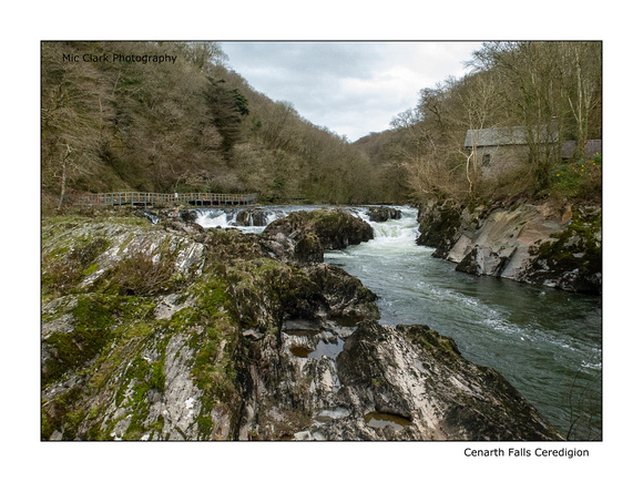 Cenarth Falls and old water mill Ceredigion