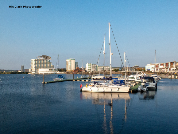 Cardiff Bay with St David's Hotel in background