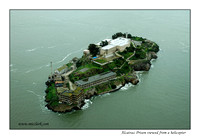Alcatraz Prison viewed from a Helicopter 2006